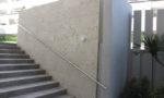 外部壁琉球石灰岩方形貼り