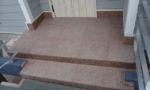 玄関ポーチ巾木・土間石貼り(G-562)・土間サンド仕上